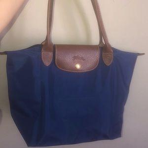 Authentic,Small, Blue Longchamp Le Pilage bag